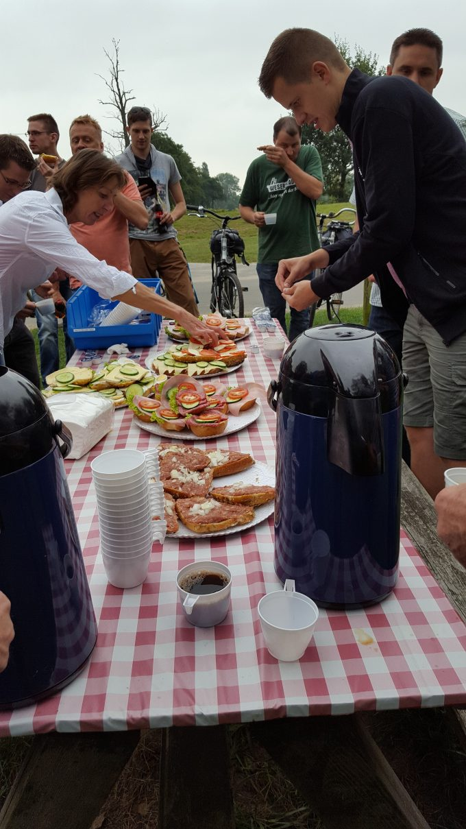 Betriebsausflug 2016, Radtour Bremer Blockland