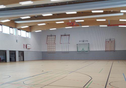 Neubauinstallation Einer Zweifeldsporthalle