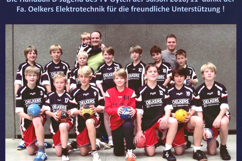 Handball D-Jugend TV Oyten 2010/11 Sponsoring