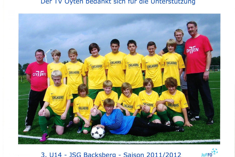 Fußball 3. U14 JSG Backsberg 2011/12 Sponsoring